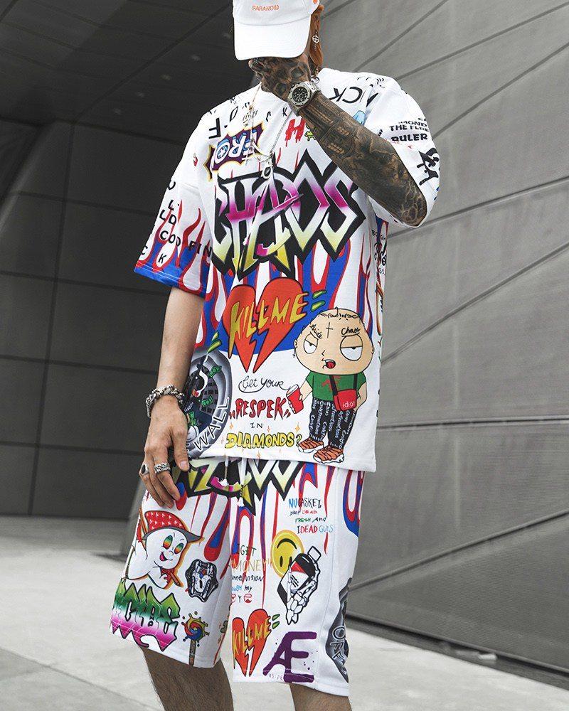 《2色》CHAOSカートゥーングラフィティTシャツの画像1